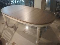 Стол обеденный МИК Мебель SHARL MK-1256-BW Бежевый/Белый