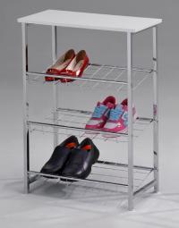 Обувница МИК Мебель MK-6335-WT Хром/Белый