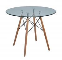 Стол обеденный МИК Мебель MK-7012-GL Прозрачный
