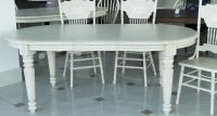 Стол МИК мебель HNDT - 4280 SWL MK-1103-AW  Белый антик