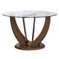 Стол обеденный МИК Мебель MK-6934-GL Карамельный дуб