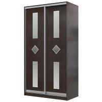 Шкаф-купе Мэри-Мебель Мэри Де-Люкс 1000 2-х дверный, цвет дуб венге/двери № 4