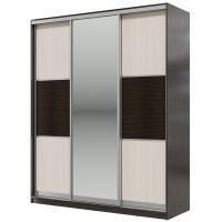 Шкаф-купе Мэри-Мебель Мэри Де-Люкс 1800 3-х дверный, цвет дуб венге/двери № 6