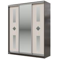 Шкаф-купе Мэри-Мебель Мэри Де-Люкс 1800 3-х дверный, цвет дуб венге/двери № 8